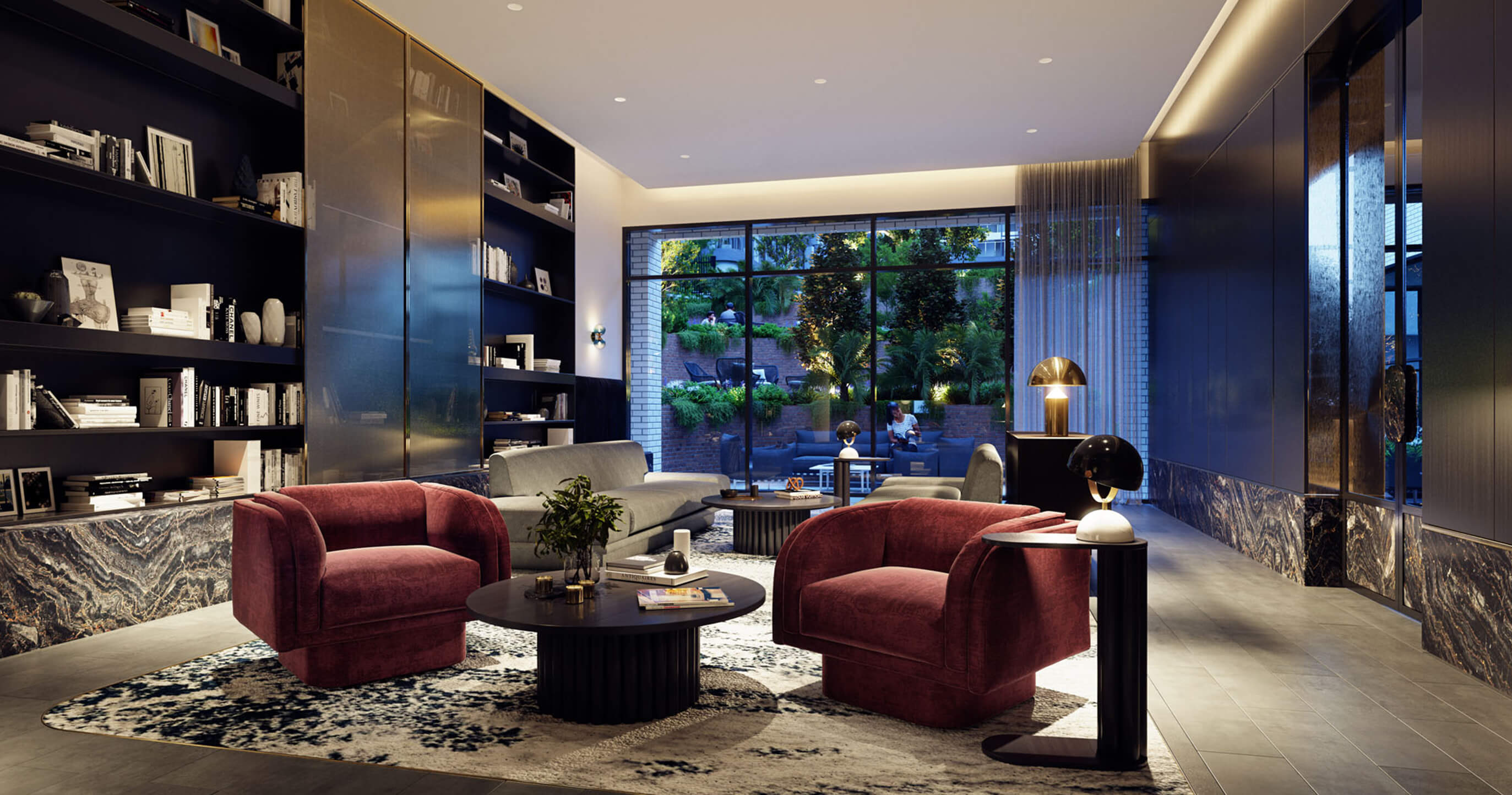 Residents' private club lounge